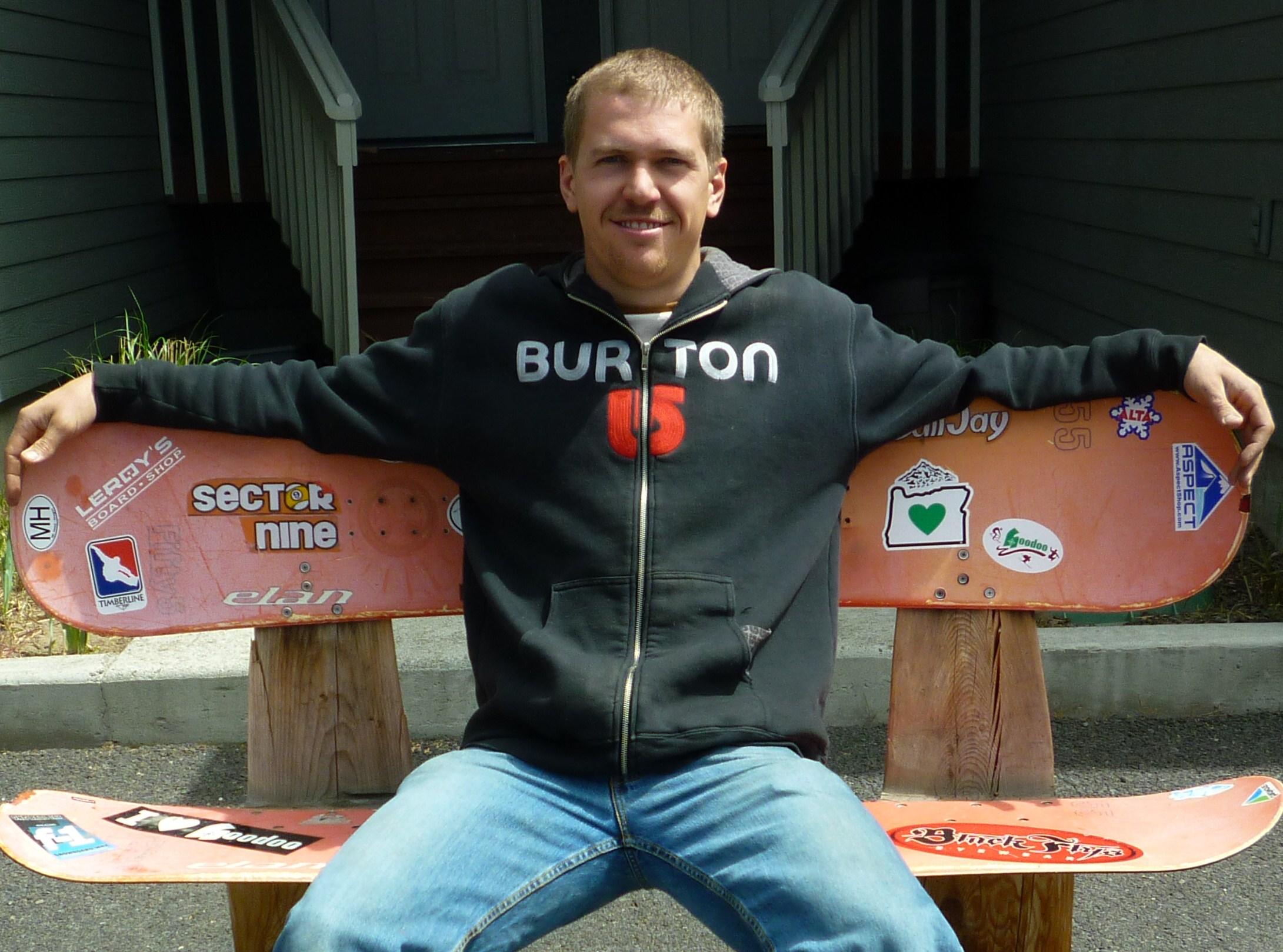 snowboard bench diy